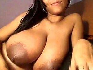 Große Titten Striptease Öl